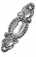 "TT-14 - 3-1/8"" X 1"" Cast Brass Keyhole Escutcheon"