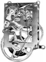 "TT-21 - A3087 8-Day Time Only Movement - 18"" Drop"