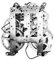 Mechanical Movements & Related Components - 8-Day Movements - TT-21 - M4067 8-Day Mantel Clock Movement