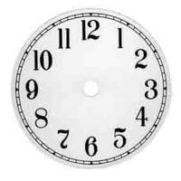 "Metal Dials - Round Aluminum & Heavy Metal Backed Dials - VO-12 - 6"" Arabic Round White Dial"