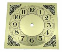 "VO-12 - 6"" Square Arabic Fancy Metal Dial"