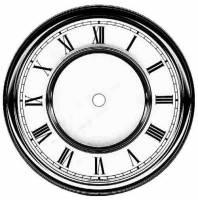 "Dials & Related - Metal Dials - Timesaver - 7-1/16"" R & A Roman Dial"