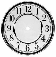"Metal Dials - Round Aluminum & Heavy Metal Backed Dials - Timesaver - 6-1/2"" Vienna Arabic Dial"