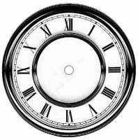 "Metal Dials - Round Aluminum & Heavy Metal Backed Dials - Timesaver - 6-1/2"" Vienna Roman Dial"
