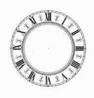 Dials & Related - Paper Dials - Timesaver - 4-1/2 Ivory Fleur De Lys Roman Paper Dial