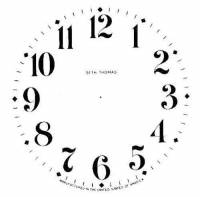 "Paper Dials - Paper Dials - With trademarks - Timesaver - 4-1/2"" Ivory S. Thomas Mantel Dial"