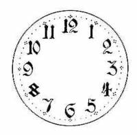 """Dials & Related - Porc-A-Dials - Timesaver - 4-1/4"""" Arabic Porc-A-Dial"""