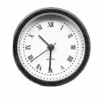 "Clock Repair & Replacement Parts - Timesaver - 37mm (1-7/16"") Pewter Bezel Roman White Dial Fitup"