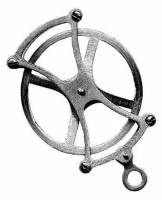 "Clock Repair & Replacement Parts - Weight Pulleys, Pulley Covers, S-Hooks, etc. - Timesaver - 2"" Seth Thomas Fancy Pulley"