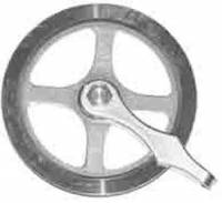 "Clock Repair & Replacement Parts - Weight Pulleys, Pulley Covers, S-Hooks, etc. - Timesaver - Kieninger 1-3/4"" Pulley"