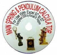 Books - Clocks: Repair & How-To Books - Mainspring & Pendulum Calculator Program-Version 2
