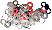 Parts - Bows, Buckles, Bushings, Clamps, Crowns, O'Rings, Mvmt. Rings, Pipes, Screws, Spring Bars, Stems - Watch Movement Rings 100-Piece Assortment
