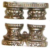 """Case Parts - Columns & Column Holders - Cast Double 11/16"""" Column Base Set"""