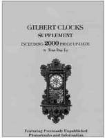 Books - Clocks-Price & Identification Guides - Gilbert 2000 Price Update By Tran Duy Ly