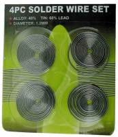 General Purpose Tools, Equipment & Related Supplies - Solder & Related Tools & Supplies - Solder Wire 4-Coil Set