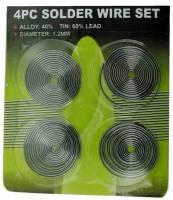 General Purpose Tools, Equipment & Related Supplies - Solder & Related Tools & Supplies - Solder Wire 4-Coil Set