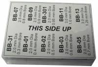 American Made Bushings - American Made Bergeon Sizes-Brass Bushing Blanks - Brass Bergeon Bushing Blank Asst #7-American Made