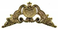"Case Parts - Corners - 3-1/4"" Cast Brass Decorative Corner"