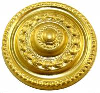 "Case Parts - Decorative Appliques - Brass Paterae Style C 1-1/2"" Diameter"