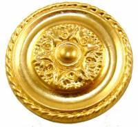 "Case Parts - Decorative Appliques - Brass Paterie Style D 1-5/8"" Diameter"
