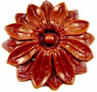Case Parts - Decorative Appliques - Resin Rosette Case Applique 2""