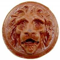 """Case Parts - Lions Heads - Resin Lion Head Case Applique 2-3/4"""""""