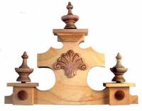 "Case Parts - Wood Case Parts - 14"" Vienna Clock Top"