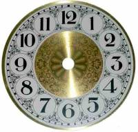 "Metal Dials - Round Aluminum & Heavy Metal Backed Dials - 4-1/2"" Fancy Aluminum Arabic Dial"
