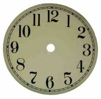 "Metal Dials - Round Aluminum & Heavy Metal Backed Dials - 4-1/2"" Ivory Aluminum Arabic Dial"