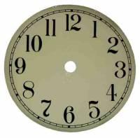 "Metal Dials - Round Aluminum & Heavy Metal Backed Dials - 4-1/2"" Ivory Aluminum Arabic Dial"