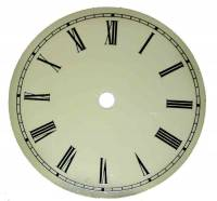 "Metal Dials - Round Aluminum & Heavy Metal Backed Dials - 6"" Ivory Aluminum Roman Dial"