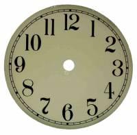 "Metal Dials - Round Aluminum & Heavy Metal Backed Dials - 7-13/16"" Ivory Aluminum Arabic Dial"
