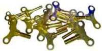 Clock Keys, Winders, Cranks & Related - Single End Standard Wing Keys - Brass Single End Key 21 Piece Assortment - Swiss Sizes