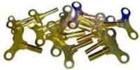 Clock Keys, Winders, Cranks & Related - Single End Standard Wing Keys - Brass Single End Key 21 Piece Assortment - Swiss Sizes