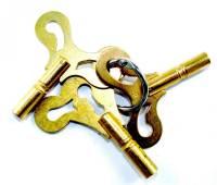 Clock Keys, Winders, Cranks & Related - Single End Standard Wing Keys - Economy Grade Single End Key 3-Piece Assortment - American Sizes