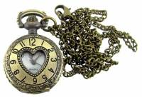 Pocket Watches, Pendant Watches, Watches & Accessories - Pocket Watches, Pendant Watches & Watches - Pendant Watch - Antique Gold Heart