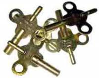 Clock Keys, Winders, Cranks & Related - Double End Keys - Double End Brass Key 5-Piece Assortment