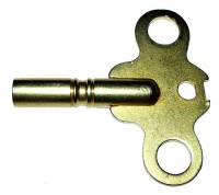 Clock Keys, Winders, Cranks & Related - Double End Keys - Brass Key Wing With #8 (4.00mm) Large End for Double End Key