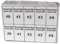 Dials & Related - Dial Related Items (Chapter & Time Rings, Dial Cutters, Dial Screws, Enamel, Arbors, etc.) - 40-Piece Dial Screw Assortment