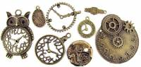 Novelty Items - 8-piece Bronzed Key Charm Assortment