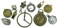 Novelty Items - 11-Piece Bronzed & Silvered Key Charm Assortment