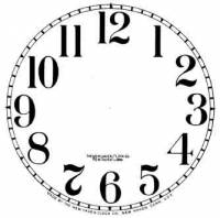 "Paper Dials - Paper Dials - With trademarks - BEDCO-12 - 4-1/2"" New Haven Arabic Dial-White"