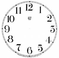 "Paper Dials - Paper Dials - With trademarks - BEDCO-12 - 4-1/2"" Waterbury Arabic Dial-White"