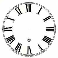 """Paper Dials - Paper Dials - With trademarks - SHIPLEY-12 - 5"""" Ansonia Roman Dial-Ivory"""