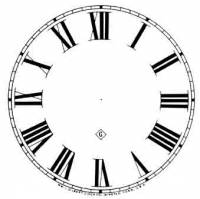 """Paper Dials - Paper Dials - With trademarks - SHIPLEY-12 - 5"""" Roman Gilbert Dial-Ivory"""