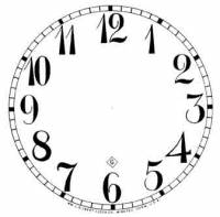 "Paper Dials - Paper Dials - With trademarks - BEDCO-12 - 5"" Gilbert Arabic White Dial"