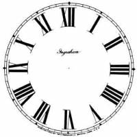 """Paper Dials - Paper Dials - With trademarks - Timesaver - 9"""" Ingraham Roman White Dial"""