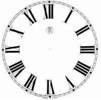 """Paper Dials - Paper Dials - With trademarks - Timesaver - 4-1/2"""" Kroeber Roman Ivory Dial"""