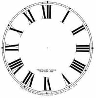 "Paper Dials - Paper Dials - With trademarks - BEDCO-12 - 5"" New Haven Roman Whitepaper Dial"