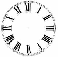 """Paper Dials - Paper Dials - With trademarks - SHIPLEY-12 - 4-1/2"""" Sessions Roman Ivory Dial"""